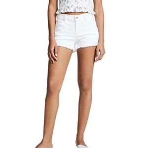 Madewell White Distressed Jean Shorts Size 28